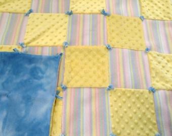 Baby Quilt, Receiving Blanket, Fleece Baby Blanket, Shower Gift, Newborn Baby Blanket, Soft Baby Bedding, Crib Bedding, Baby Quilt
