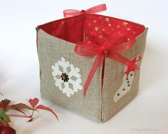 Christmas Box Christmas Decor-Holiday Decor Home Decor Gift