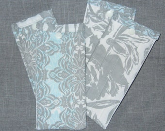 Blue Grey Arianna Moderne Ecelectic Khristian Howell Lined Quilted Eyeglass Sunglass Case Pouch