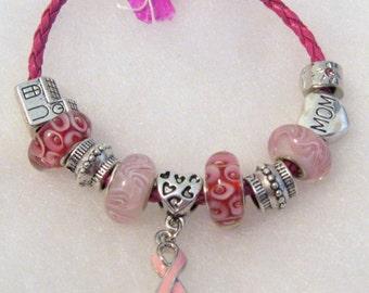 321 - Think Pink - Breast Cancer Awareness Bracelet