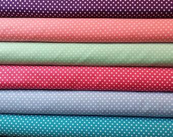 1/2 yard bundle of Moda Dottie Fabric.  6 different  coordinating fabrics
