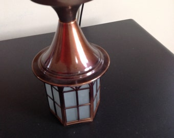 REDUCED! Vintage colonial copper hanging porch light real copper