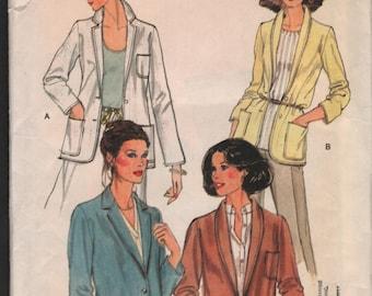 Vogue 7074 UNCUT Misses Jackets sewing patternh ID616