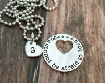 Personalized Hand stamped golf ball marker and necklace set