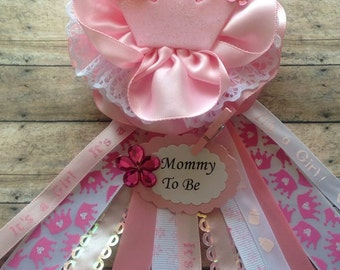 to be baby shower corsage pink baby shower theme mom to be corsage