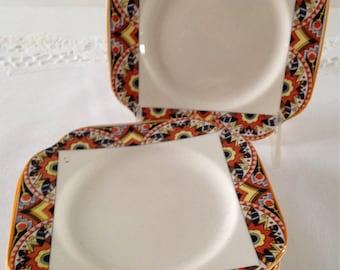 "Set of 6 Morely & Fox Art Deco 6""Plates Made in England circa 1906"