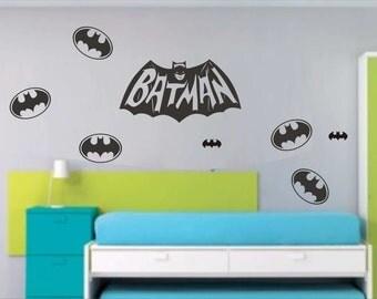 BATMAN Logos Effects Wall Stickers