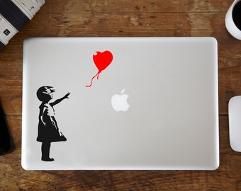 Banksy Red Balloon Girl MacBook Decal