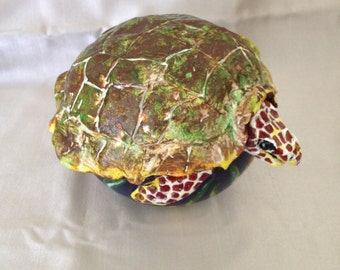 SOLD Gourd Art:  Sea Turtle