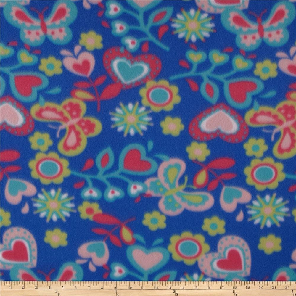 On Salebutterfly Fleece Fabric By The Yard By