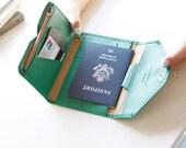 Passport,Passport Holder,leather wallet,travel wallet,bird,purse,pouch,candy colors,birthday gift,christmas gift-HZ004