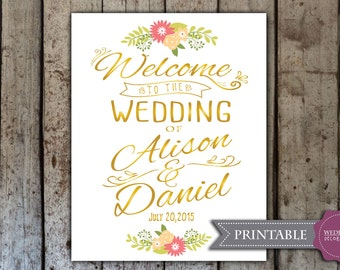 Custom Wedding Welcome Sign - Printable Wedding Welcome Sign - Printable PDF
