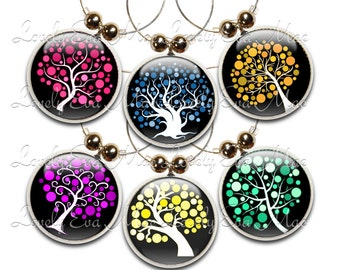 Tree Wine Glass Charms, Tree Charm, Wine Glass Jewelry, Wine Charms, Wine Glass Charm, Tree of Life, Wine Gift, Wine Lover, Wine Accessories