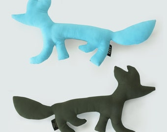Fox. collection Zanimo. Plush blue / khaki