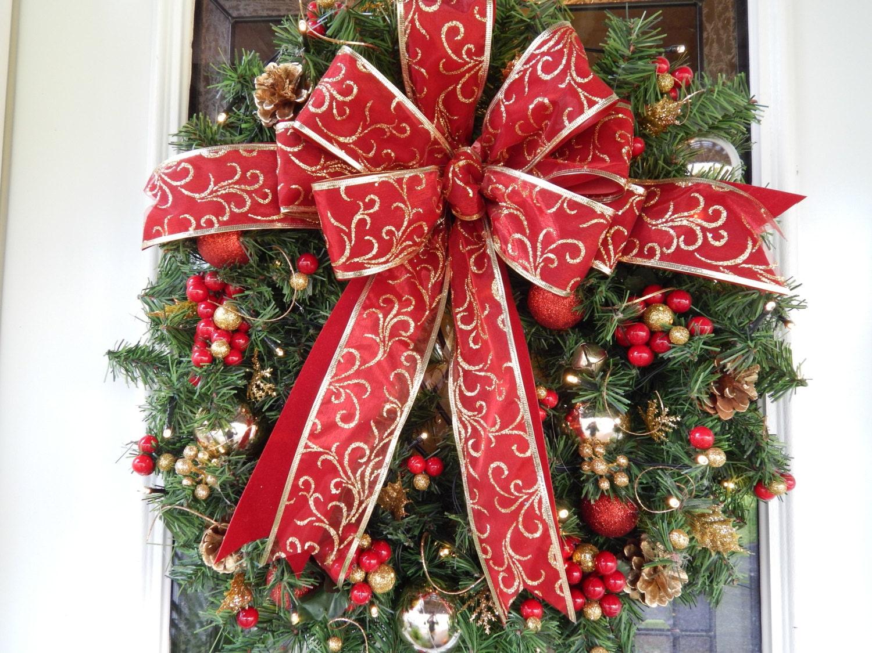 Christmas Wreath Artificial Wreath Lighted Wreath Cordless