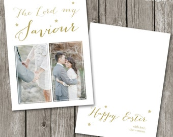 Easter Card Template - Christian Easter Card for Photographers - Easter Christian Template - Easter Photo Card - EC02