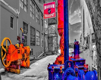 Museum of Industry, Baltimore Art, Baltimore City, 10x13 matted on black mat