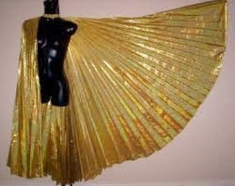 Gorgeous Sexy Belly Dance Costume ISIS WINGS With Sticks..W/Carrying Case