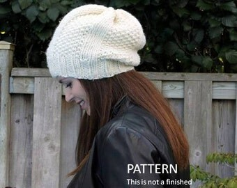 knit hat pattern, PDF Instant Download Knitting Pattern, knit in many colors, easy to follow pattern, knitting pattern 0039