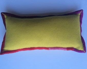 Peace Pillow.  Cashmere and Lavender. Hand stitched.