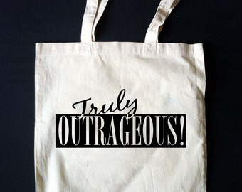 TRULY OUTRAGEOUS!  Jem and the Holograms Outrageous Tote Bag  **Made to Order!**