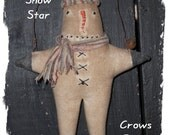 Primitive 1 Christmas Herbie Snow Star Ornament ornies doll-enter Coupon code 20CYBER for 20perc. off