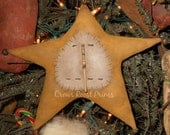 Star Snowman handmade Primitive Ornament ornie Crows Roost Prims