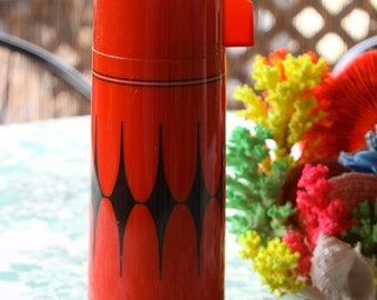 Awesome Mid-Century atomic design! 1960-1970's Aladdin's thermos/vacuum flask