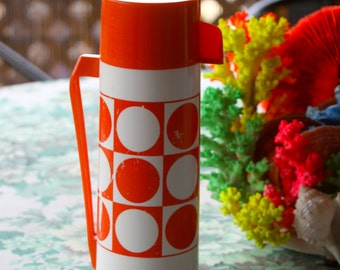 Awesome Mid-Century atomic design! 1960/1970's Aladdin's thermos/vacuum flask