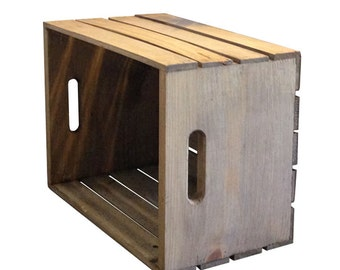 Fruit Crate, Wood Crate Decor, Painted Wood Crate