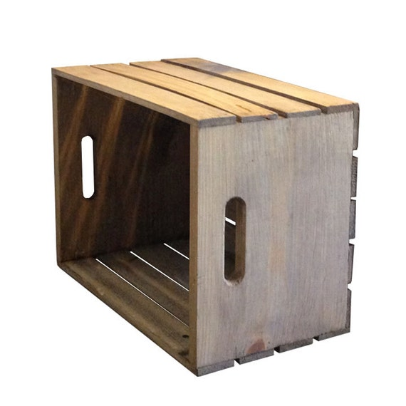 Fruit crate wood crate decor painted wood crate for Wooden fruit crates