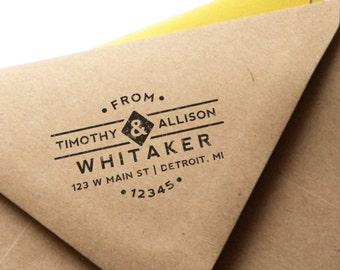 Wooden or Self-Inking Custom Return Address Stamp - Classic No. 1