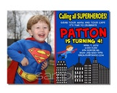 SALE - Superhero Invitation Birthday Party - DIGITAL or PRINTED