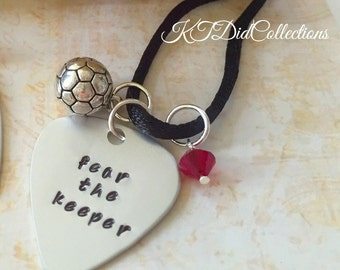 Soccer Goalie Necklace - Fear the Keeper;) - Soccer Jewelry