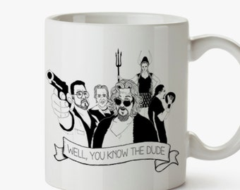 Dude Big Lebowski Mug.Tribute to Coen's film