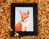 Orange Fox Woodland Animal LuckyWallArt Giclée Canvas Print Animal Portrait Based on Original Painting wild animal -living room- boy's room