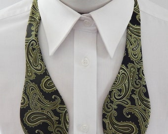 Mens Bowtie Different Shades Of Green Paisley Self Tie Bow Tie