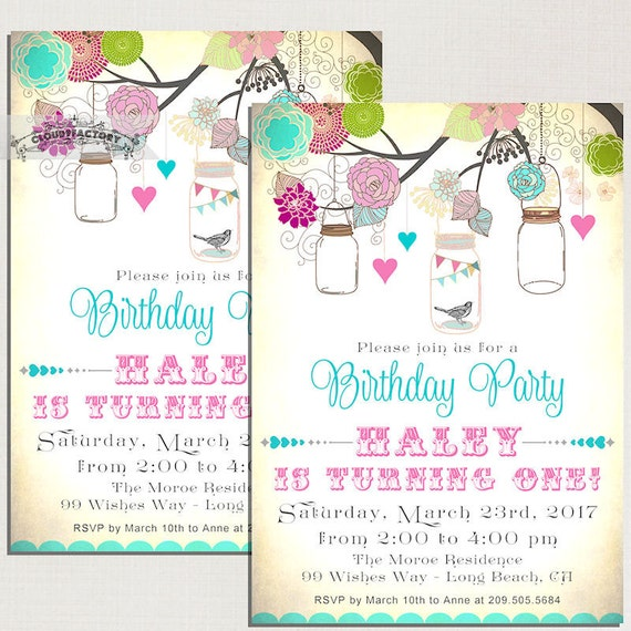 Items Similar To Birthday Party Invitations For A Little