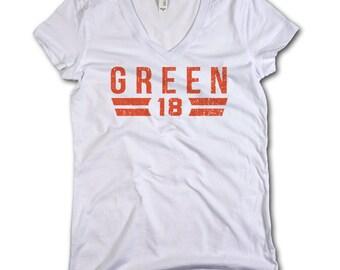 A.J. Green NFLA Officially Licensed Cincinnati Women's V-Neck S-2XL A.J. Green Font O