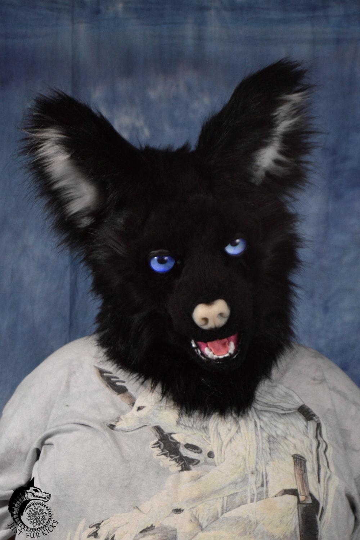 Furry Cat Fursuit Black