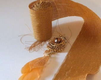Luxury gold woven hand tape