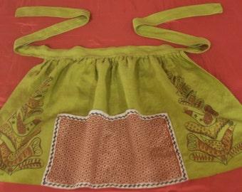 Robert Darr Wert original hand printed apron from the 1950s/60s.