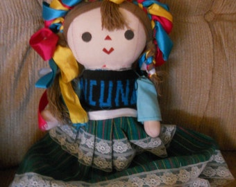 Colorful cloth doll from Mexico