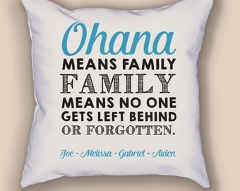Ohana Personalized Throw Pillow