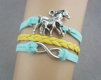 INFINITY HORSE PONY bracelet
