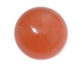 Moonstone Orange Round Cabochon Loose Gemstone 1A Quality 10mm TGW 3.00 cts.