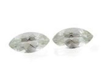 Green Amethyst Marquise Cut Loose Gemstones Set of 2 1A Quality 12x6mm TGW 2.95 cts.