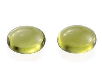 Italian Idocrase Set of 2 Oval Cabochon Loose Gemstones 1A Quality 7x5mm TGW 1.55 cts.