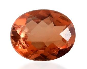 Madeira Orange Quartz Triplet Oval Cut Loose Gemstone 1A Quality 10x8mm TGW 2.75 cts.