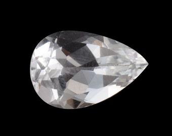 White Topaz Pear Cut Loose Gemstone 1A Quality 11x9mm TGW 4.55 cts.